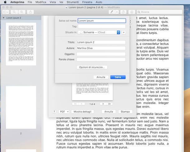 Unire i PDF con Anteprima su Mac