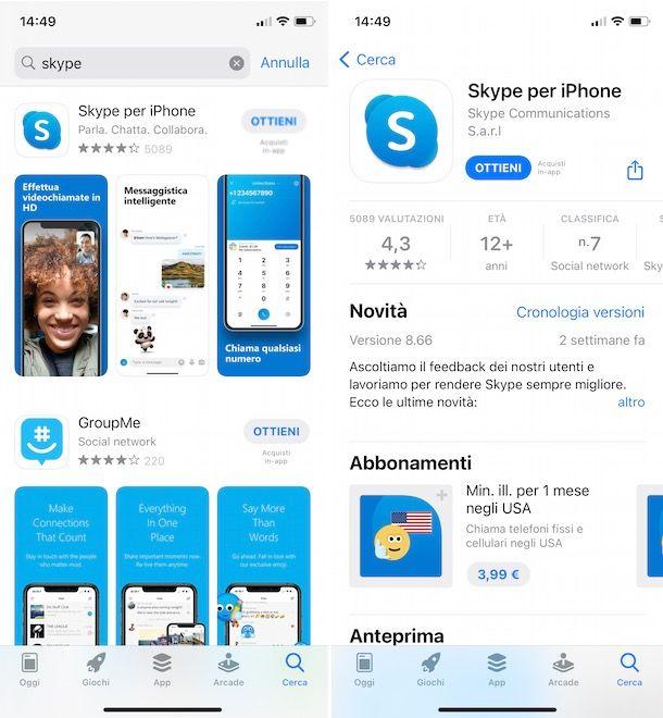 Come scaricare Skype su iPhone