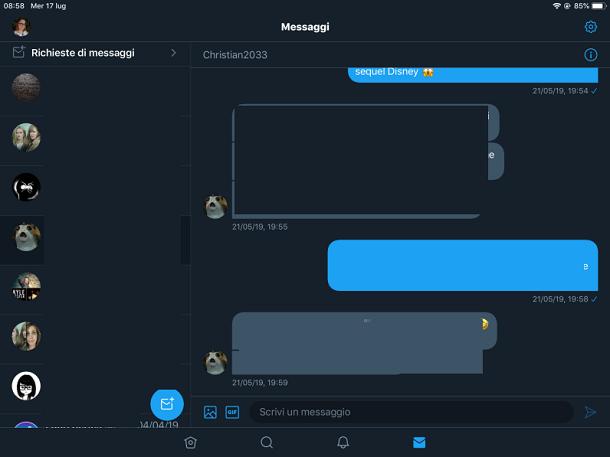 Inviare e rispondere ai messaggi