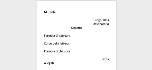 Esempio di lettera formale
