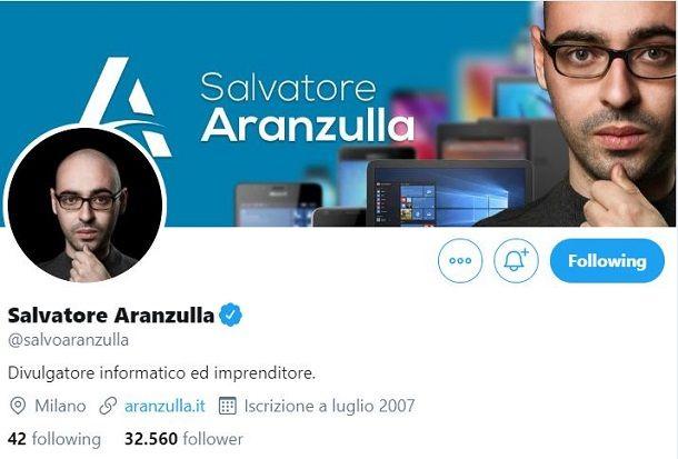 Seguire su Twitter
