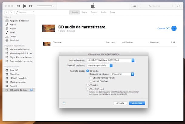 Come masterizzare un CD