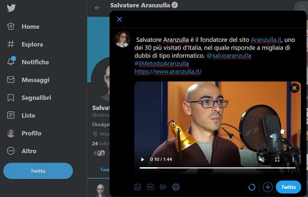 Come twittare un video su twitter da computer