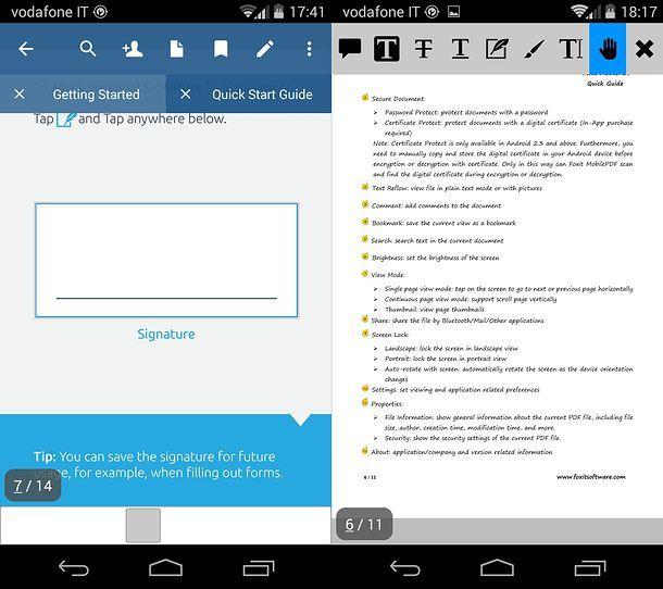Modificare PDF smartphone