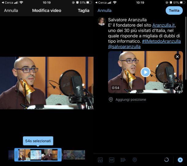 Twittare un video smartphone