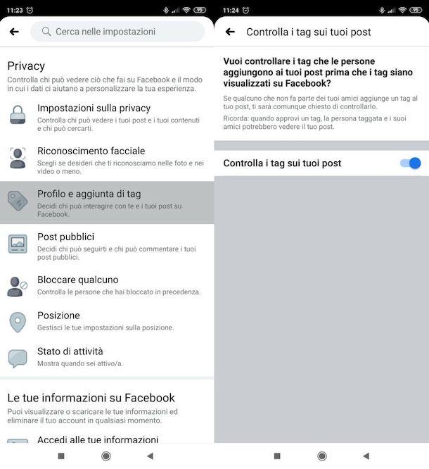 Evitare di farsi taggare su Facebook