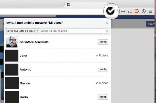 come selezionare tutti gli amici su Facebook