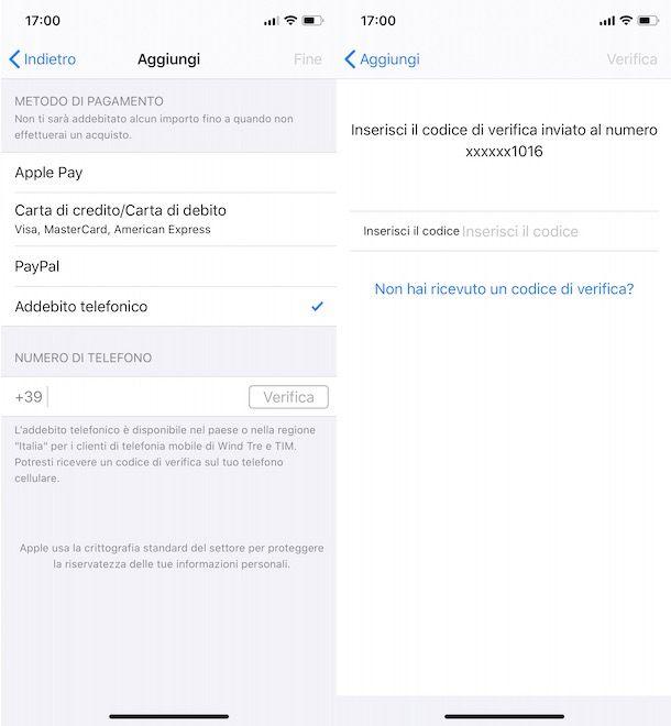 Come acquistare su iTunes con credito telefonico