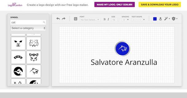 Come creare un logo salvatore aranzulla for Creatore di progetti online gratuito