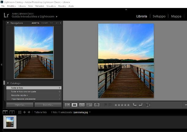 Come ruotare una foto in Lightroom