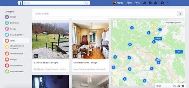 Affittare casa vacanze su Facebook