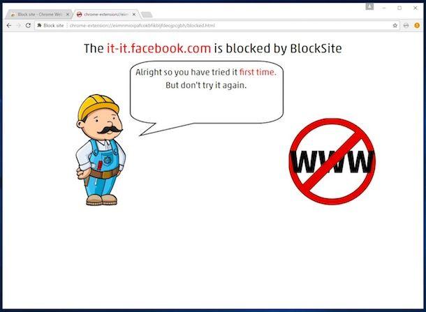 Come bloccare un sito con Chrome