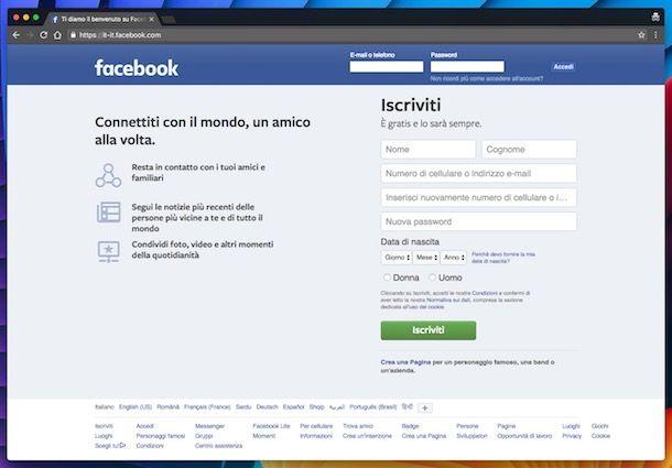 Come iscriversi su Facebook senza farsi scoprire