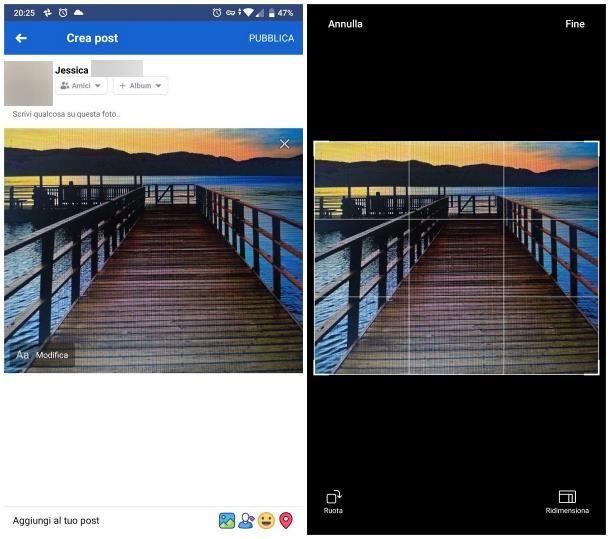 Come ruotare una foto su Facebook