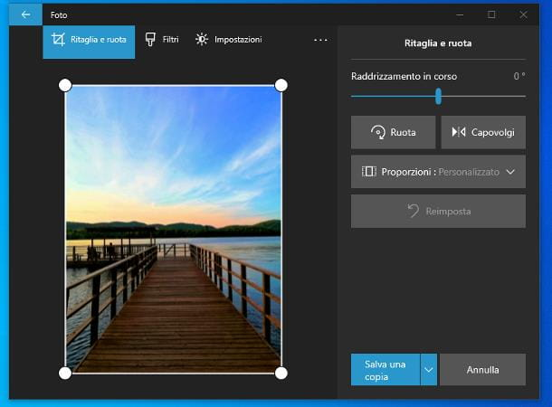 Come ruotare una foto su Windows