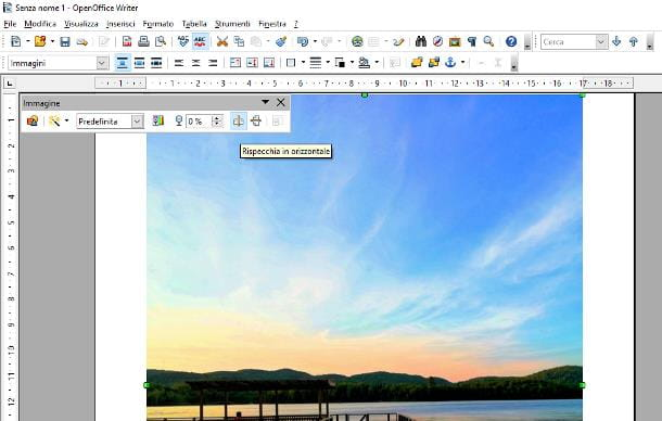 Come ruotare una foto su Open Office Writer