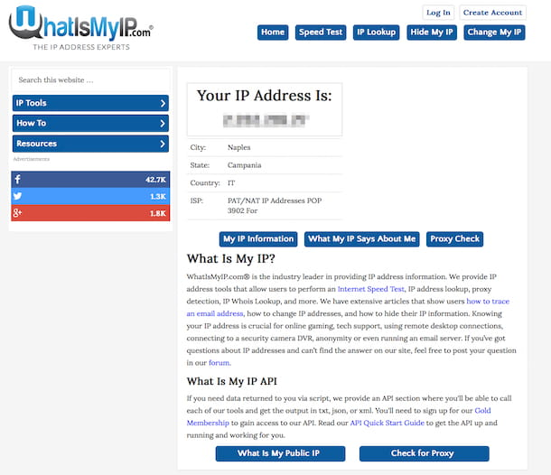Come reperire indirizzo IP