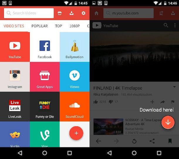 Come scaricare video da YouTube con Android