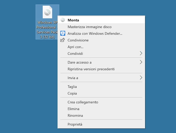 Montare ISO su Windows