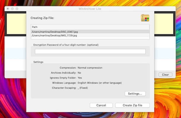Programas de compresión de Mac