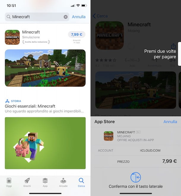 Installare Minecraft su iPhone