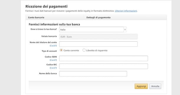 Pagamenti eBook vendite Amazon Kindle Direct Publishing