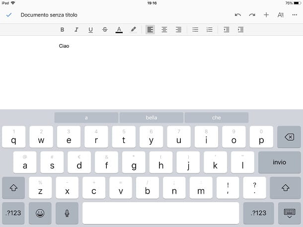 Altri programmi Office per iPad