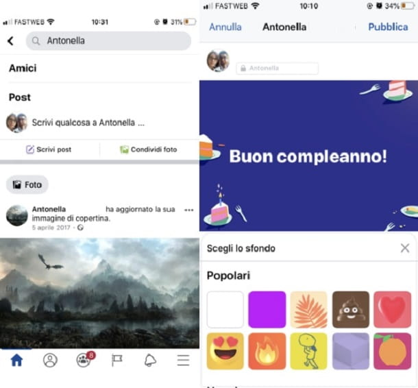 Compleanno post FB