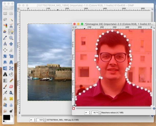 Sovrapporre con GIMP