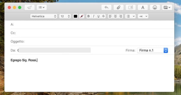 Introduzione mail formale