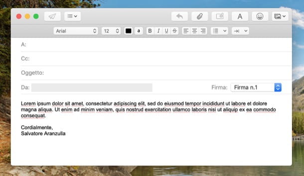 Conclusione mail formale