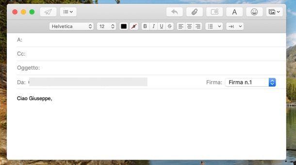 Introduzione mail informale