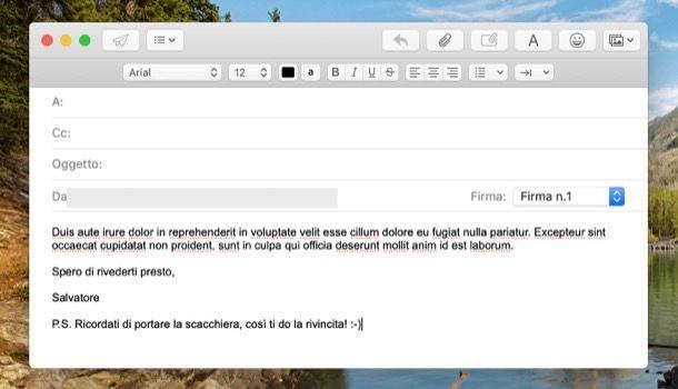 Conclusione mail informale