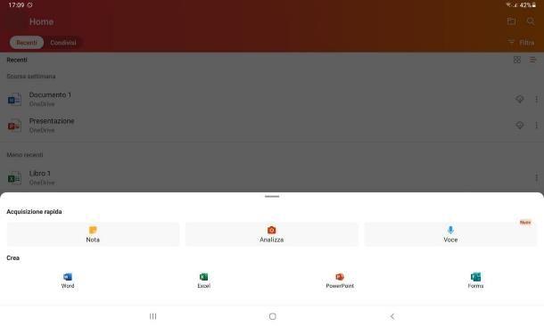 Programmi Office per Android