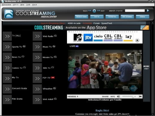 Coolstreaming Media Center