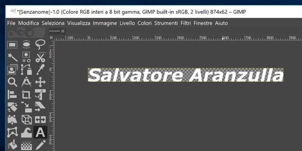 Firma creata con GIMP