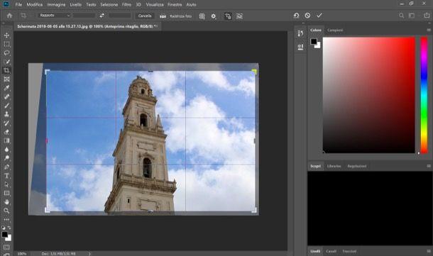 Ritagliare foto su Photoshop