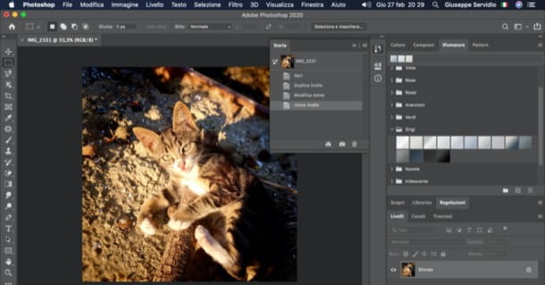 Disunire livelli Photoshop su PC