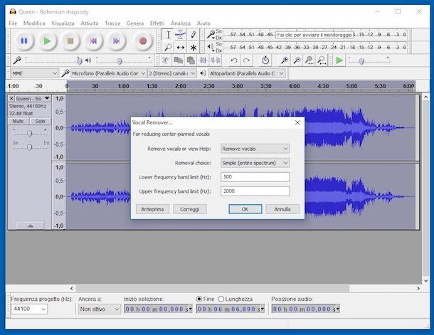 Programmi per togliere la voce da una canzone