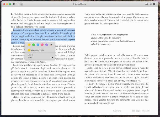 Applicazione Libri Mac