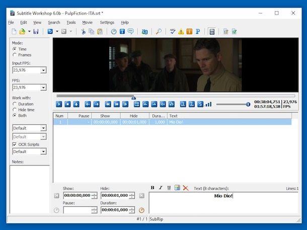 video con sottotitoli incorporati