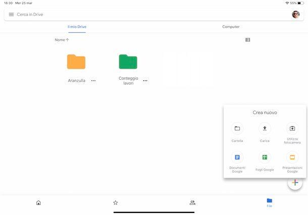 Google Drive su iPad