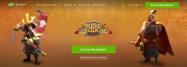 Home page di BlueStacks