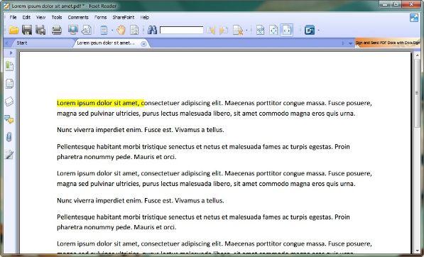 foxit reader editing pdf pivoter