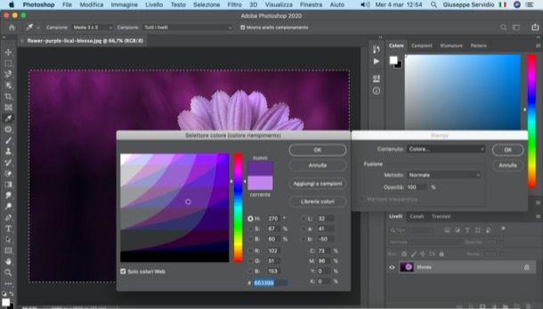 Cambiare colore sfondo foto con Photoshop
