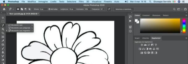 Colorare un disegno con Photoshop