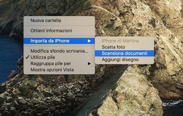 Fotocamera con Continuity macOS