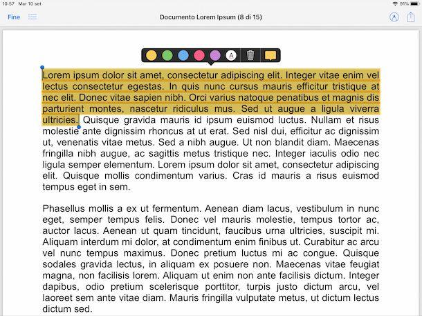 File evidenziazione PDF