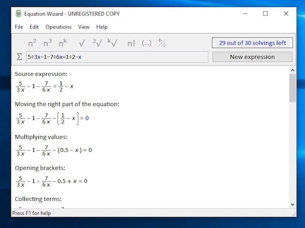 Programmi per risolvere equazioni