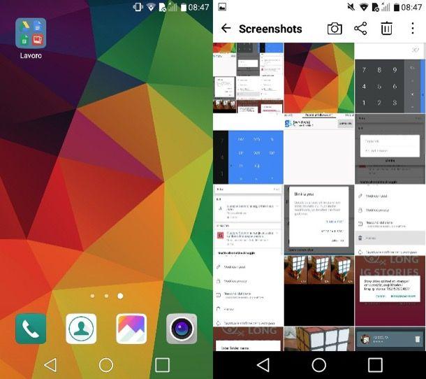 Screenshot schermo Android